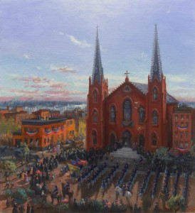 """69th NYS Memorial Mass, St. Brigid's Church, August 14, 1861, Imagined"""