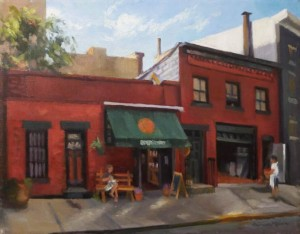 """""""Morning Coffee"""" 15""""x19"""" oil on linen"""