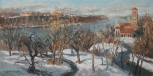 View of the Cloisters, Snow